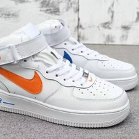 """Nike Air Force 1"" Unisex Sport Casual Fashion High Help Plate Shoes Couple Sneakers"