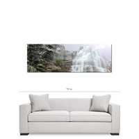 Panoramic Wall Art - 20 x 60 Canvas - Panoramic Canvas - Waterfall Canvas - Landscape Canvas - Gallery Wrapped Canvas - Purple Sky Photo