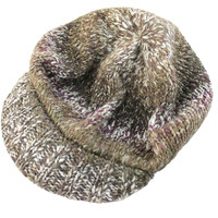 Lauren Jeans Women's Brimmer Brown Knit Beanie Hat