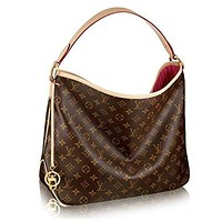 LV Monogram Delightful MM Handbag Article: M50156 Made in France tote bag