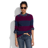 Perfect Textured Sweater in Stripe