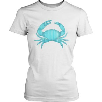 Blue Crab Womens T-Shirt