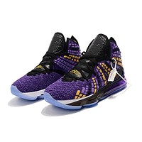LeBron 17 XVII EP - Black/Purple/Yellow