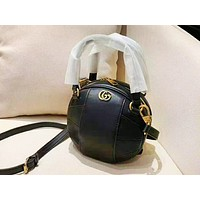 Gucci fashion hot seller spherical solid color cross shoulder bag