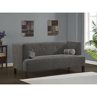 Charcoal Cape Sofa Wood Fabric Polyester Dark Elastic Living room New Free