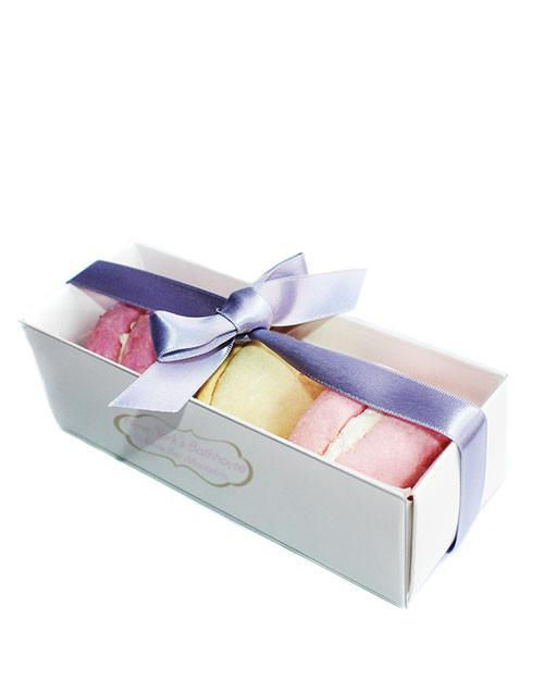 Image of Assorted Macarons Solid Bubble Bar Gift Box