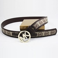 Perfect MK Woman Men Fashion Smooth Buckle Belt Leather Belt mieniwe?