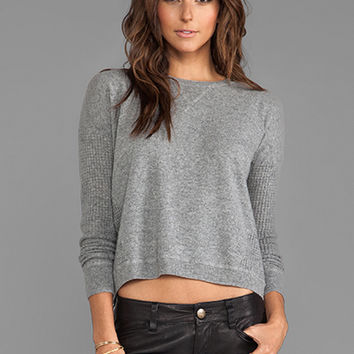 Autumn Cashmere Thermal Sweatshirt With Back Zip in Cement from REVOLVEclothing.com