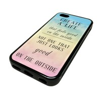 For Apple iPhone 5C 5 C Case Cover Skin Ombre Bible Quote Verse Religious God Jesus DESIGN BLACK RUBBER SILICONE Teen Gift Vintage Hipster Fashion Design Art Print Cell Phone Accessories