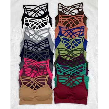 Padded Caged Bralette - Multiple Colors