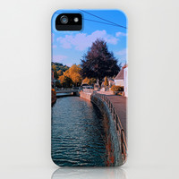 The river through the village center | waterscape photography iPhone & iPod Case by Patrick Jobst
