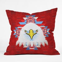 Chobopop American Flag Eagle Outdoor Throw Pillow