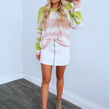 Warming Up To You Sweater: Multi