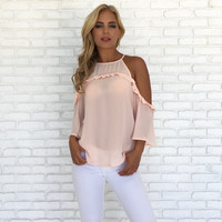 Won Me Over Pink Blouse
