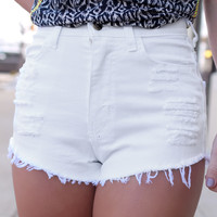 White Out High Rise Shorts