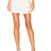 by the way. Tori Lace Up Skirt in Ivory | REVOLVE