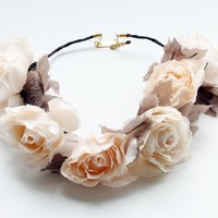 BOURBON ROSE CROWN- IVORY