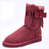 UGG winter boots snow boots warm non-slip boots Wine red