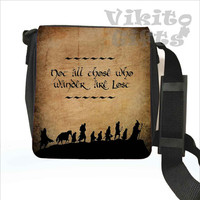 Lord of the Rings - Messenger Shoulder Bag, Not all who wander are lost, Hobbit Small Bag