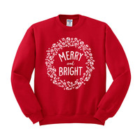 Merry and Bright Crewneck Sweatshirt
