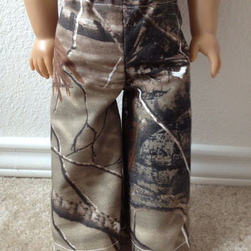 Daddy's Girl Camouflage Hunting/Camping Pants: fits most 18 in dolls