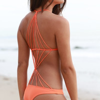 The Girl and The Water - Mikoh Swimwear 2014 - Seychelles One Piece Sunrise - $202