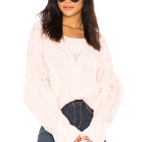 Wildfox Couture Solid Sweater in Pink Flush