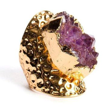 Queen Of Amethyst Gold Ring