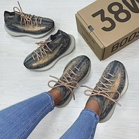 """Adidas Yeezy Boost 380 """"Mist Reflective"""" mesh breathable sneakers shoes"""