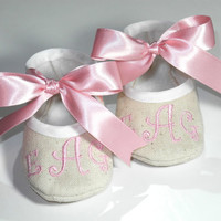 Personalized Baby Shoes  Personlized Natural by KayLaneSisters