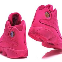 Hot Air Jordan 13 Retro Women Shoes All Pink