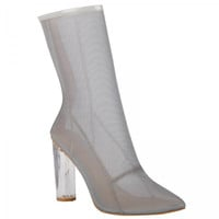 High Society Grey Mesh Ankle Boot
