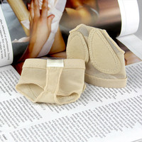 Free Shipping Two Holes  Professional Belly Toe Pad Modern Half Lyrical Dance Shoes Sandals Paws Dance Foot Thongs