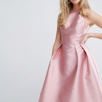 Chi Chi London Structured Satin Prom Dress at asos.com