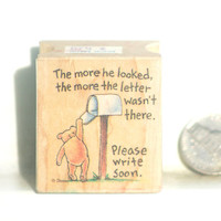 Winnie the Pooh Rubber Stamp for Paper Card Art & Scrapbooking Craft at Discount Prices