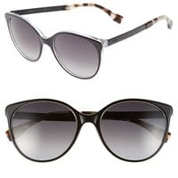 Women's Fendi 54mm Round Sunglasses