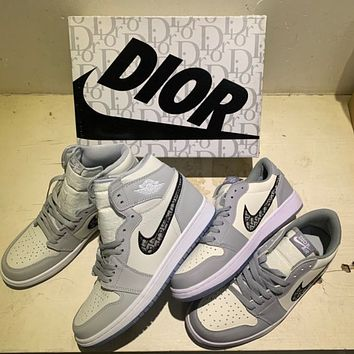 NIKE Air jordan 1 aj 1 Air force 1 Basketball shoes male air force couple street shooting all-match sports shoes sneakers