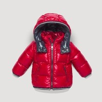 Moncler Children's wear winter red down jacket