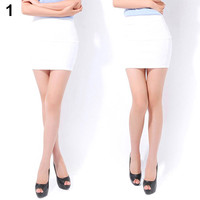 Sexy Women Mini A-Line Skirt Seamless Stretch Tight Short Fitted Clubwear Solid Color
