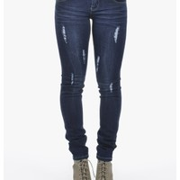 Blue Working It Dark Wash Skinny Jeans | $10.00 | Cheap Trendy Jeans Chic Discount Fashion for Wome
