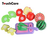Children Vegetable Fruit Kitchen Toys Kids Pretend Playing Cutting Toy Baby Safety Learning Educational Plastic Toys