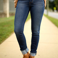 Articles of Society dark blue sarah skinny jeans