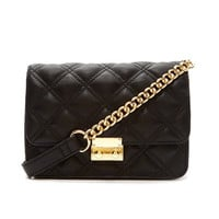 Faux Leather Quilted Purse