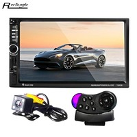 7060B 7 inch Radio 2 Din Car MP5 Player Bluetooth FM Touch Screen Steering wheel remote control Car DVD with Rearview Camera