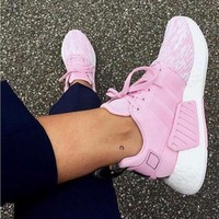 Adidas NMD R2 2.0 Boost Cherry Blossom Pink Fashion Women Comfortable Sport Running Shoe Sneakers I-MDTY-SHINING