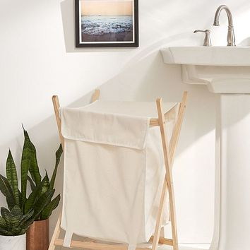 Folding Wooden Hamper | Urban Outfitters