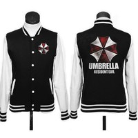 New Resident Evil umbrella logo coat JACKETS baseball uniform hoodie