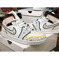 """Vip Air Jordan 1MID """"Day of the Dead"""" color,  40--46"""