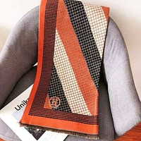 Hermes New fashion embroidery H letter keep warm scarf women