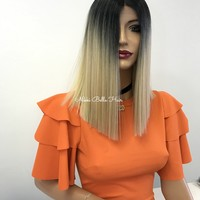 Blond blunt cut bob lace front wig - Milan 318 8 ON SALE
